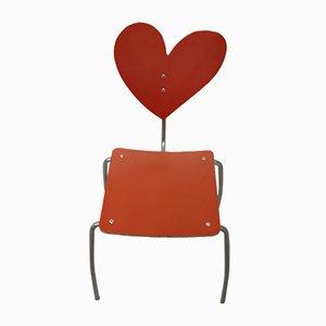 Chaise Coeur Vintage Rouge par Agatha Ruiz de la Prada