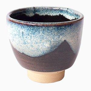 Teetasse aus Steingut mit Chun Glasur von Marcello Dolcini, 2019