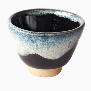Stoneware Teacup with Chun Glaze by Marcello Dolcini, 2019