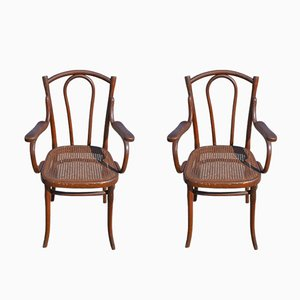 Antique Beech Side Chairs from Thonet, Set of 2