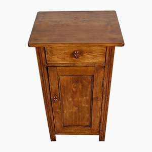 Antique Rustic Tyrolean Nightstand