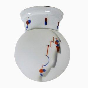 Lámpara de techo Art Déco vintage, años 20