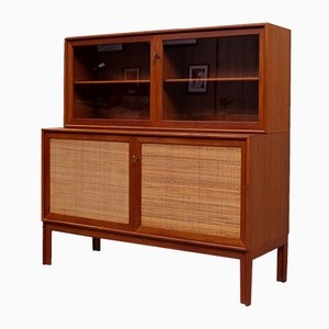 Mid-Century Norrland Sideboard with Glass Cabinet by Alf Svensson for Bjästa Snickerifabrik, 1960s