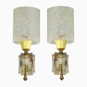 Vintage French Sconces, 1950s, Set of 2