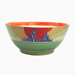 Antique British Bizarre Fantasque Windbells Bowl by Clarice Cliff for Newport Pottery, 1933
