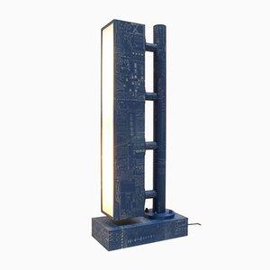 Blue Collage Table Lamp by Kiki Van Eijk & Joost Van Bleiswijk