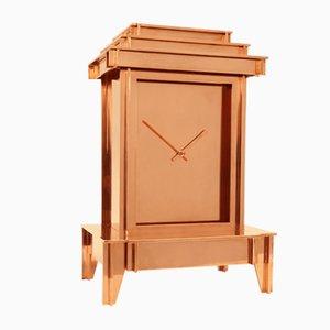 Horloge One More Time en Cuivre Plaqué par Kiki van Eijk & Joost van Bleiswijk