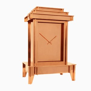 One More Time Clock with Copper Plating by Kiki van Eijk & Joost van Bleiswijk