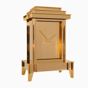 Gold Plated One More Time Clock by Kiki Van Eijk & Joost Van Bleiswijk