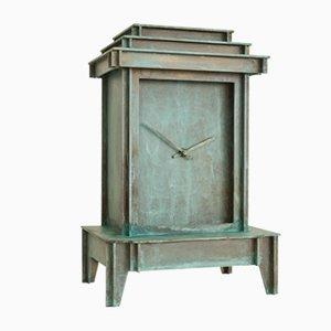 One More Time Clock in Patinated Brass by Kiki van Eijk & Joost van Bleiswijk