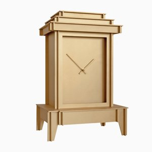 One More Time Clock in Sandblasted Brass by Kiki van Eijk & Joost van Bleiswijk