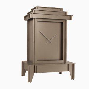 Sandblasted Stainless Steel One More Time Clock by Kiki Van Eijk & Joost Van Bleiswijk