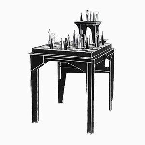Protopunk Schachtisch und Schachspiel von Kiki van Eijk & Joost van Bleiswijk