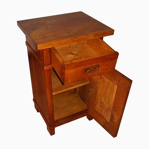 Art Nouveau Solid Cherrywood Country Bedside Table, 1890s