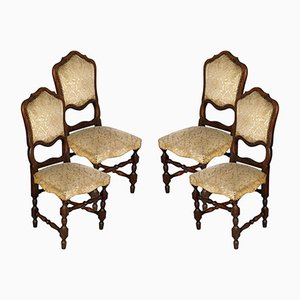 Italian Baroque Style Dining Chairs, 1920s, Set of 4