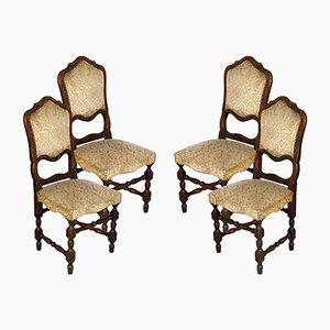 Sedie da pranzo in stile barocco, Italia, anni '20, set di 4