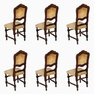 Barocke italienische Esszimmerstühle, 1920er, 6er Set