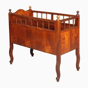 Culla in legno di noce, XIX secolo