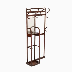 Art Nouveau Entrance Coat-Rack Hanger with Mirror from Thonet, 1910s