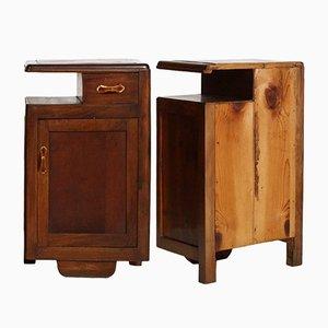 Comodini Art Déco in legno di noce, anni '20