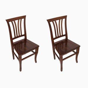 Italienische Vintage Stühle aus Nussholz von Asolo, 1940er, 2er Set
