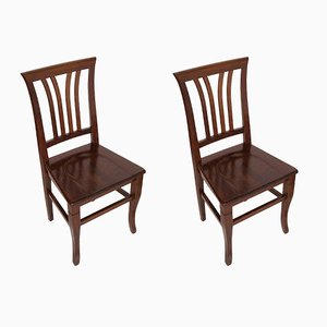Vintage Italian Walnut Chairs from Asolo, 1940s, Set of 2