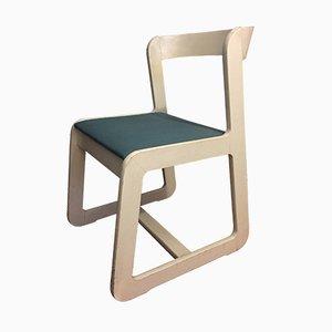 Weißer Mid-Century Stuhl von Willy Rizzo für Mario Sabot, 1970er