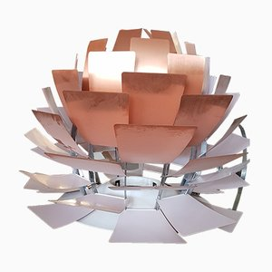 Lámpara de techo Artichoke grande de cobre de Poul Henningsen para Louis Poulsen, 1981