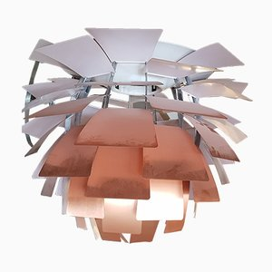 Large Artichoke Copper Rose Ceiling Light by Poul Henningsen for Louis Poulsen, 1970s