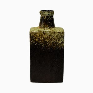 Bottle-Shaped Fat Lava Ceramic Vase from Scheurich, 1970s