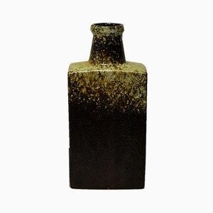 Jarrón Fat Lava de cerámica en forma de botella de Scheurich, años 70