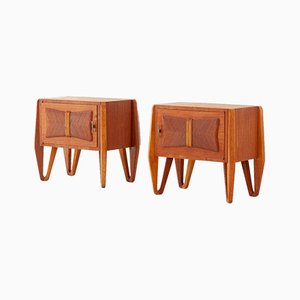 Tables de Chevet en Teck, Italie, 1950s, Set de 2