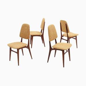 Italienische Mid-Century Esszimmerstühle aus Teak von Galimberti, 4er Set