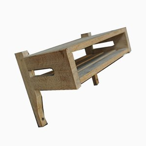 Vintage Solid Oak Shelf by Guillerme et Chambron for Votre Maison, 1960s