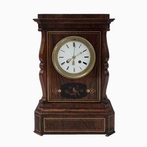 Reloj de repisa Belle Epoque francés de palisandro, década de 1880