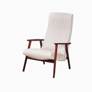 Danish Modern Easy Chair with Teak Frame, 1960s