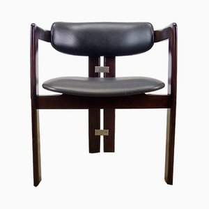 Italian Rosewood & Leather Pamplona Chair by Augusto Savini for Pozzi, 1960s