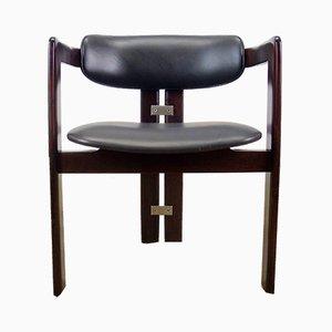 Italienischer Pamplona Chair aus Palisander & Leder von Augusto Savini für Pozzi, 1960er