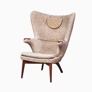 Danish Modern Sessel aus Wolle & Teak, 1960er