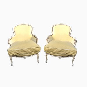 Louis XV Style Lounge Chairs, 1930s, Set of 2