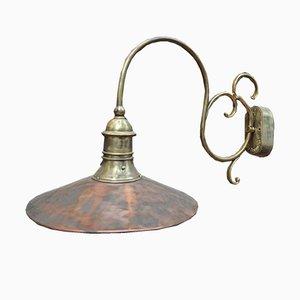 Lámpara de pared de cobre, años 60