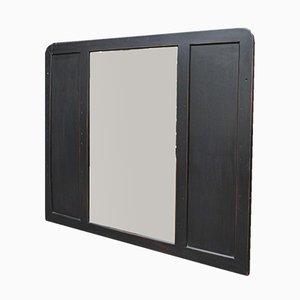 Espejo vintage de madera y vidrio biselado, años 30