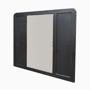 Vintage Spiegel aus Holz & angeschrägtem Glas, 1930er