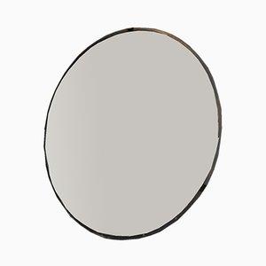 Gewölbter Spiegel aus Metall & Glas, 1960er