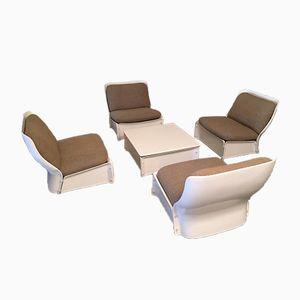 Set de Table et 4 Chaises de Salon Vintage, 1970s