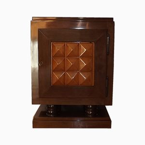 Modernist Mahogany Bar Cabinet by Gaston Poisson, 1940s