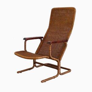 Rattan Lounge Chair by Dirk van Sliedregt for Gebroeders Jonkers Noordwolde, 1960s