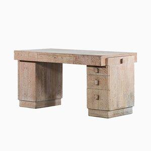 Moderner französischer Vintage Schreibtisch aus Eichenholz, 1940er