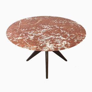 Tavolo da pranzo rotondo scultoreo, Italia, anni '50