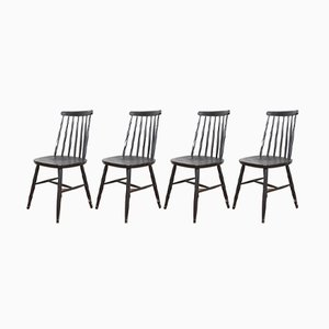 Mid-Century Dining Chairs by Ilmari Tapiovaara, 1960s, Set of 4